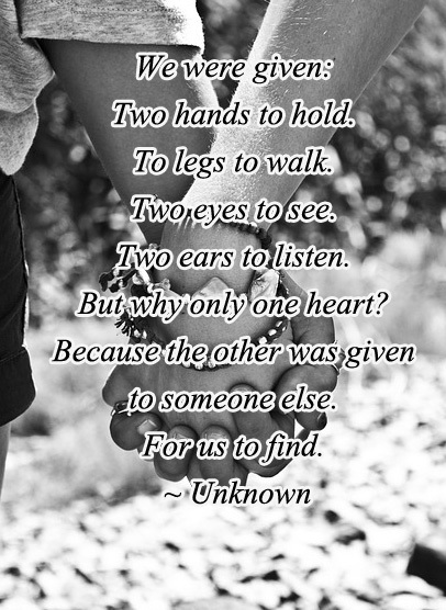 Two Hands. Cute Short Love Quotes