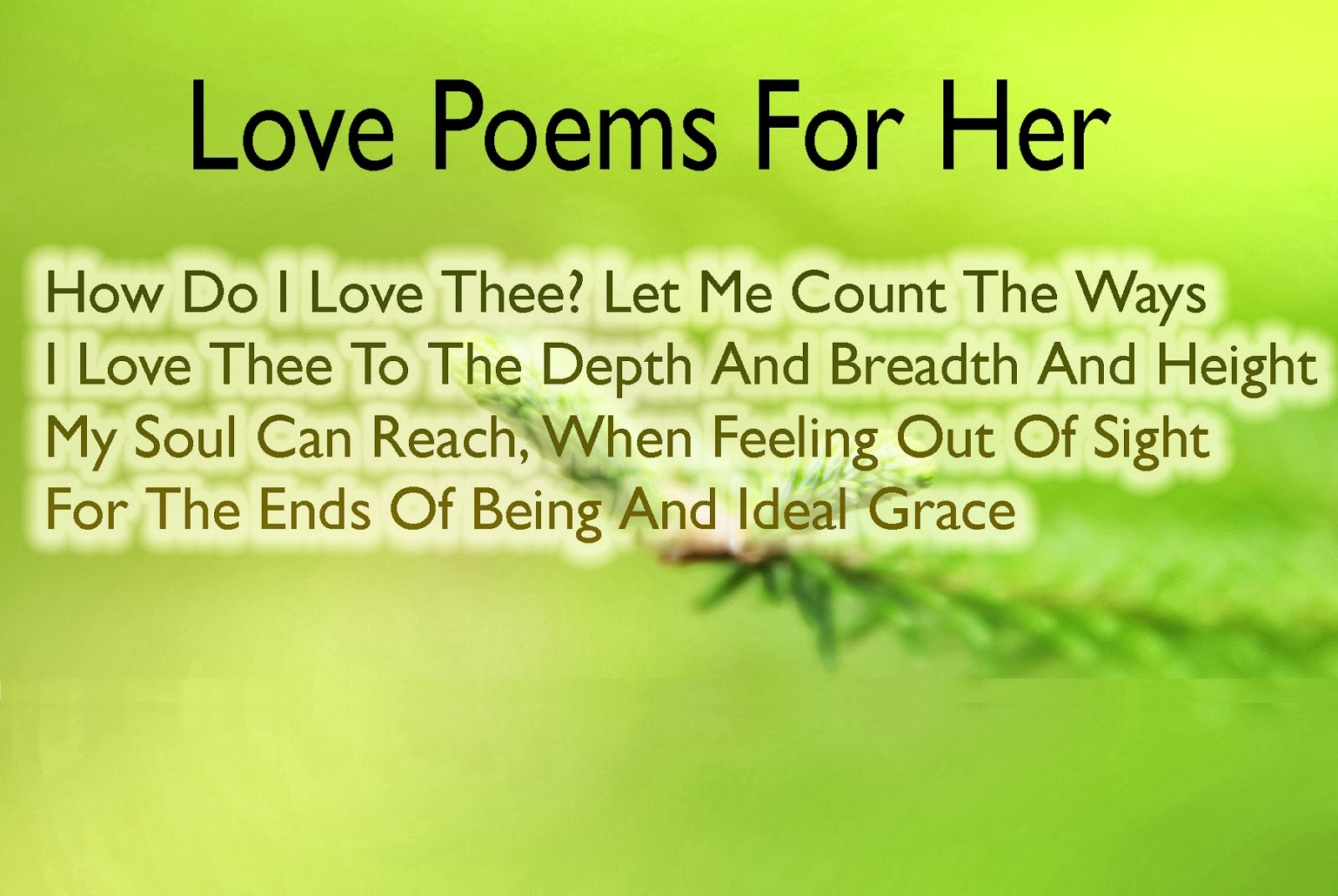 Cute Love Poems for Her