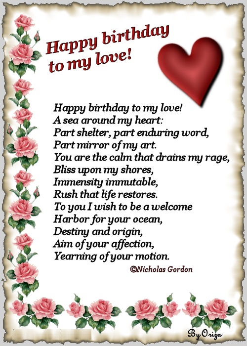 happy birthday poems