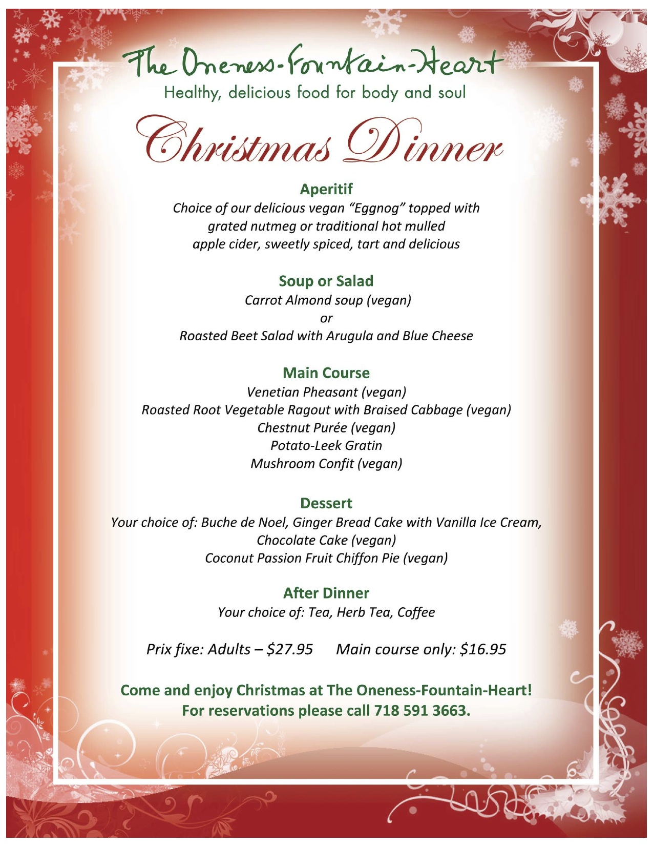 holiday dinner menu - Pertamini.co