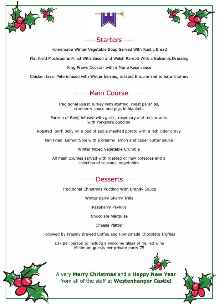 christmas dinner menu 28 images 20 mouth watering