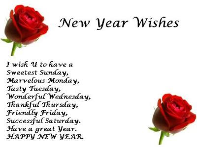 new year greetings my wishes fro friends
