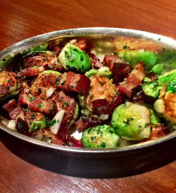 how to make brussel sprouts with bacon and onion